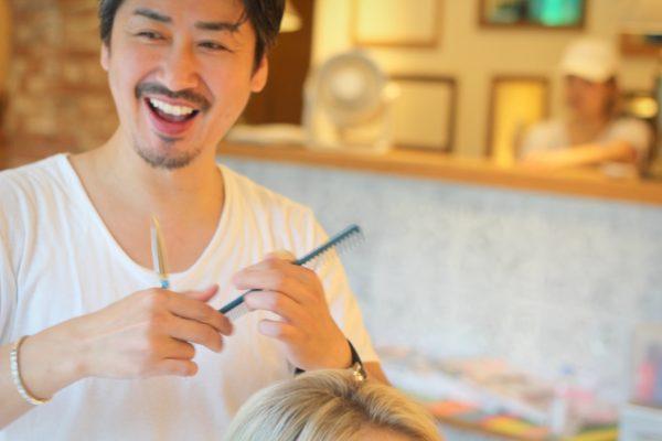 designer haircut by salon owner