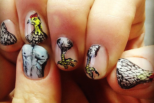 Get A Japanese-Style Mani With Stunning Illustrative Nail Art in Tokyo