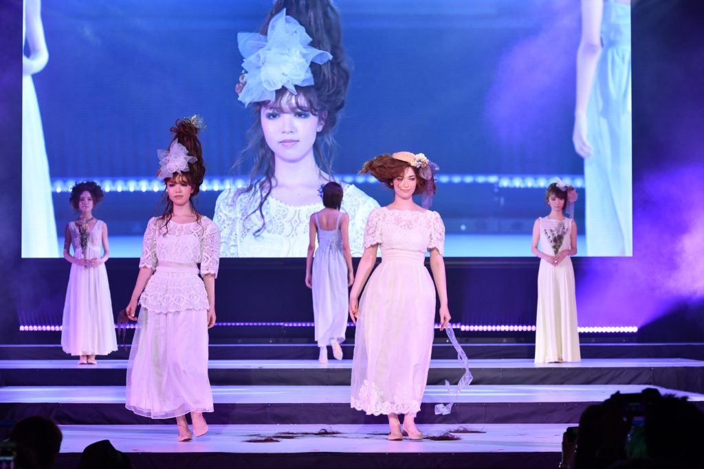 Spectacular bridal, runway hairstyles showcased by ZACC salon (photo by TOKYO BEAUTY STARS®)