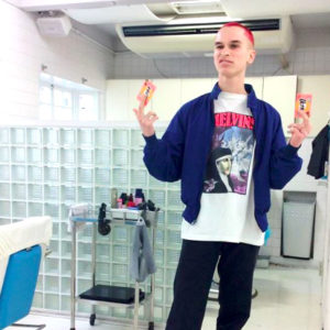 Hair Style of Ultra C salon in Harajuku Tokyo