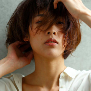 Japanese hairstyle for women - short hair (by Nepenji salon, Tokyo)