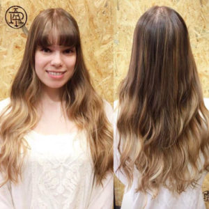 Lovely Japanese hairstyle for women with long hair (by PIA HAIR SALON , Tokyo)